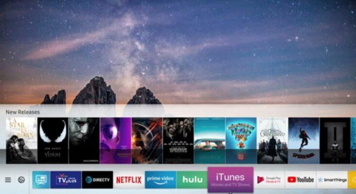 Контент ITunes отображается на телевизорах Samsung. Фото: Самсунг