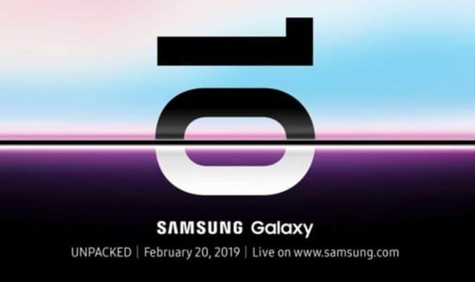 Приглашение на запуск Galaxy S10 от Samsung подразумевает сверхтонкий экран