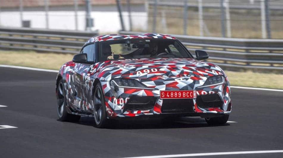 Toyota Supra 2020 на тестовой трассе США